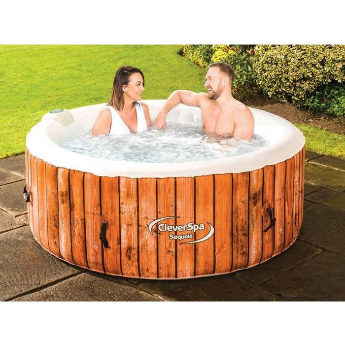 *SAVE over £220* CLEVER SPA Sequoia Inflatable 4-Person Hot Tub