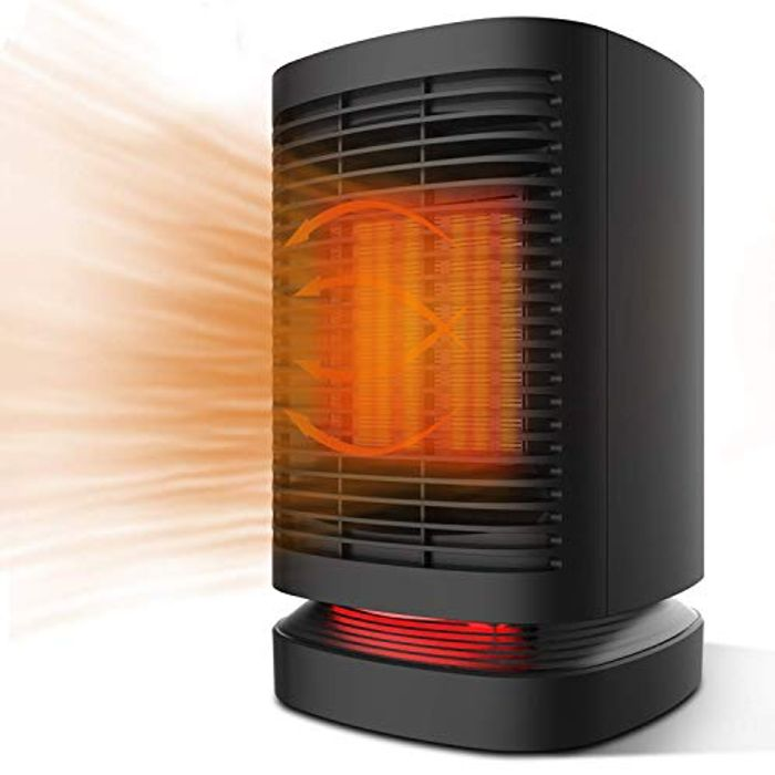 50% off Electric Fan Heater with Auto-Oscillation, 3 Settings
