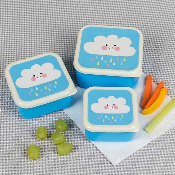 Happy Rain Cloud Snack Boxes (Set of 3)