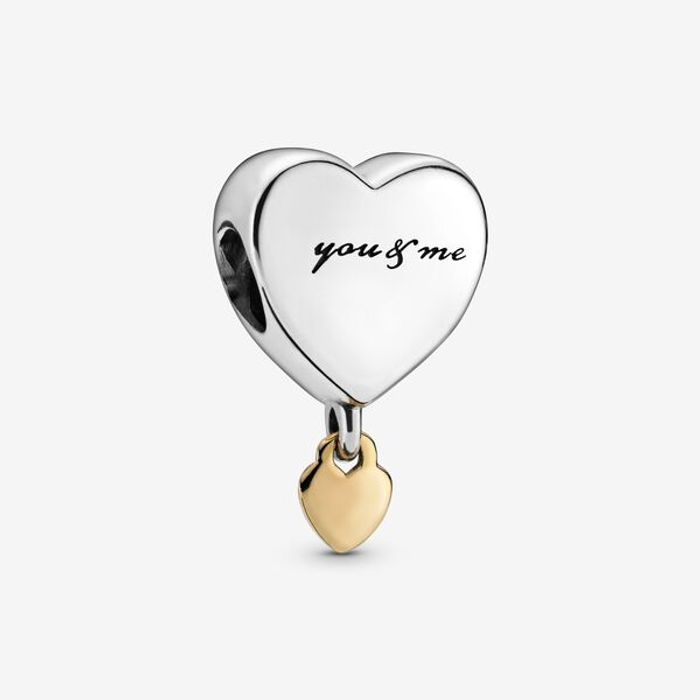 Dangling You & Me Heart Charm