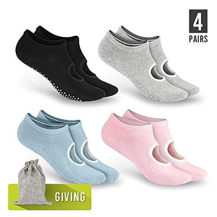 Cheap Tusscle Yoga Socks for Women Non Slip, Only £5.34!
