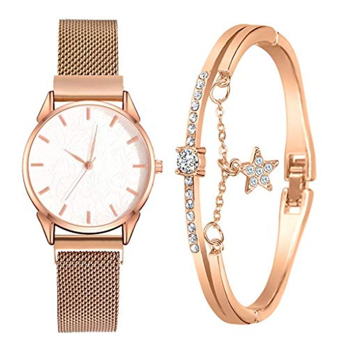 Women's Bangle Watch Bracelet Set - Just £2.99 with Free Delivery