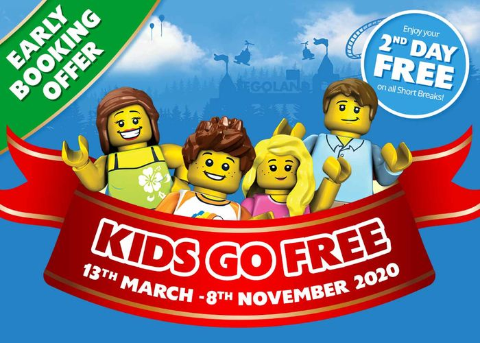LEGOLAND Windsor Resort Break - Kids Go FREE + FREE 2nd Day from £105 / £26.25pp