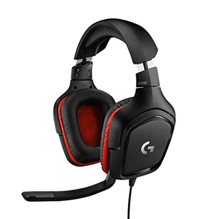 Logitech G332 Stereo Gaming Headset 6 Mm Flip-to-Mute Mic