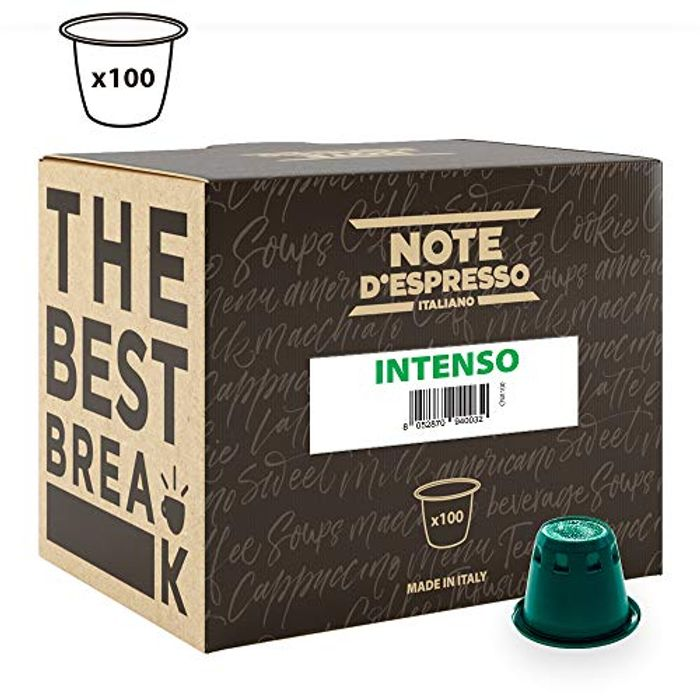 Note d'Espresso Intenso Coffee Capsules Nespresso Compatible