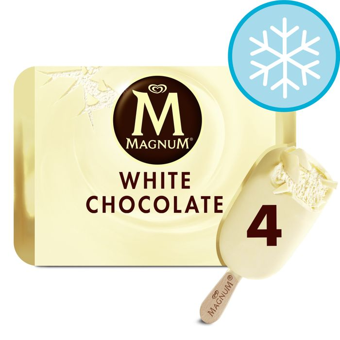Magnum White, Classic, Almond, Mint & Salted Caramel X 4 £1.60
