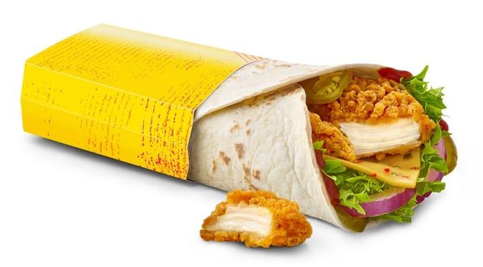 Thu 9 Jan: 99p Fajita Chicken or Spicy Veggie Wrap via app