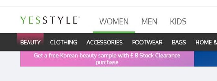Free Korean Beauty Sample with £8 Purchase