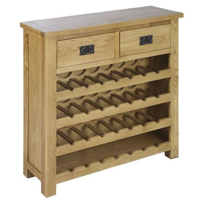 *HALF PRICE* Solid Oak Wine Rack Sideboard with Drawers