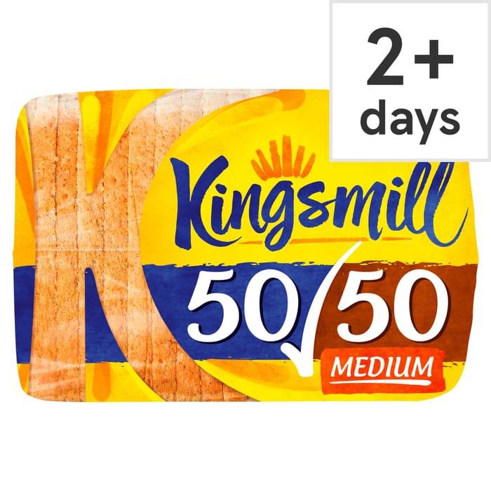 Cheap Kingsmill 50/50 Medium Bread 800G at Tesco Only £0.85!