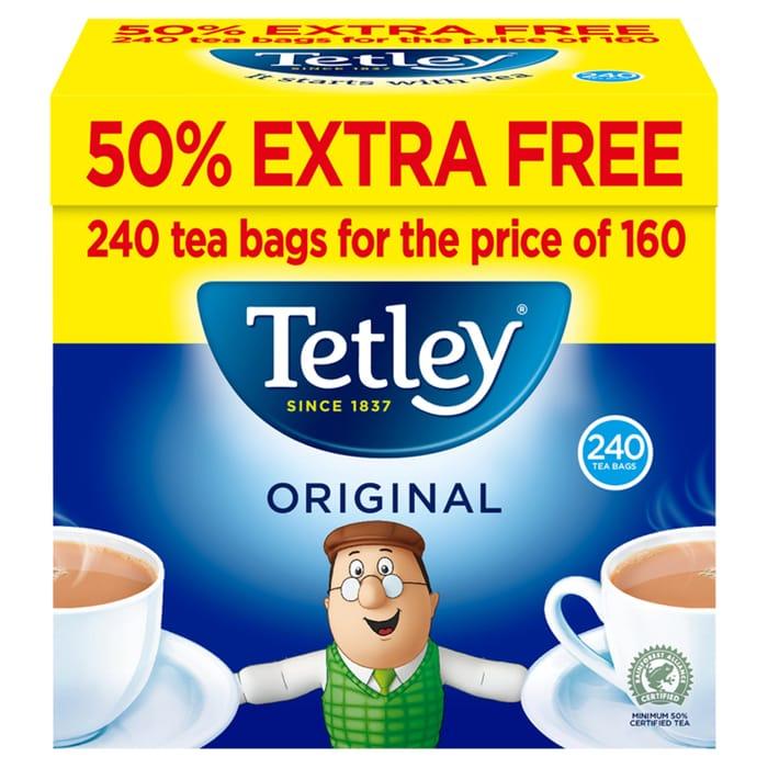 Tetley Original Tea Bags 160s 50% Extra Free 750g