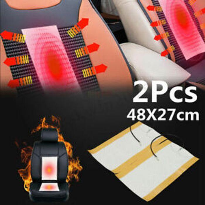Best Price! Universal 12V White Auto Car Seat Heated Pad Heater Heating Ma