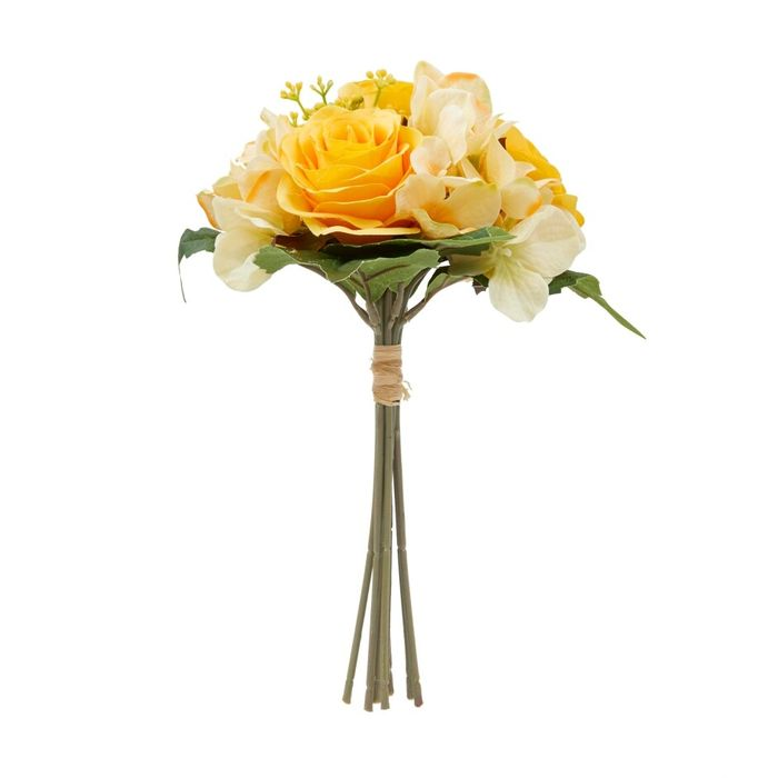 Yellow Rose and Hydrangea Bouquet