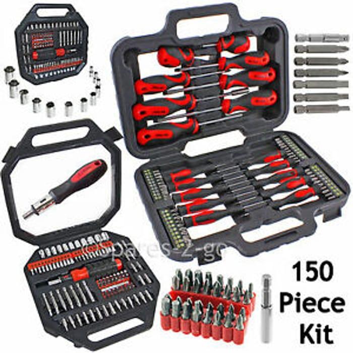 150 Piece Mechanics Tool Set in Case £17.99 Delivered