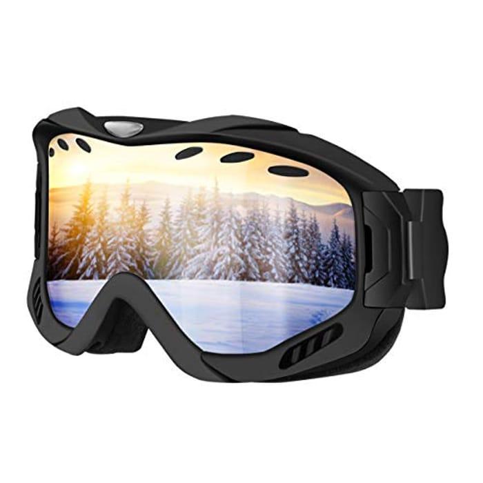 50% Off Ski Goggles with UV400 Protection & Anti-Fog