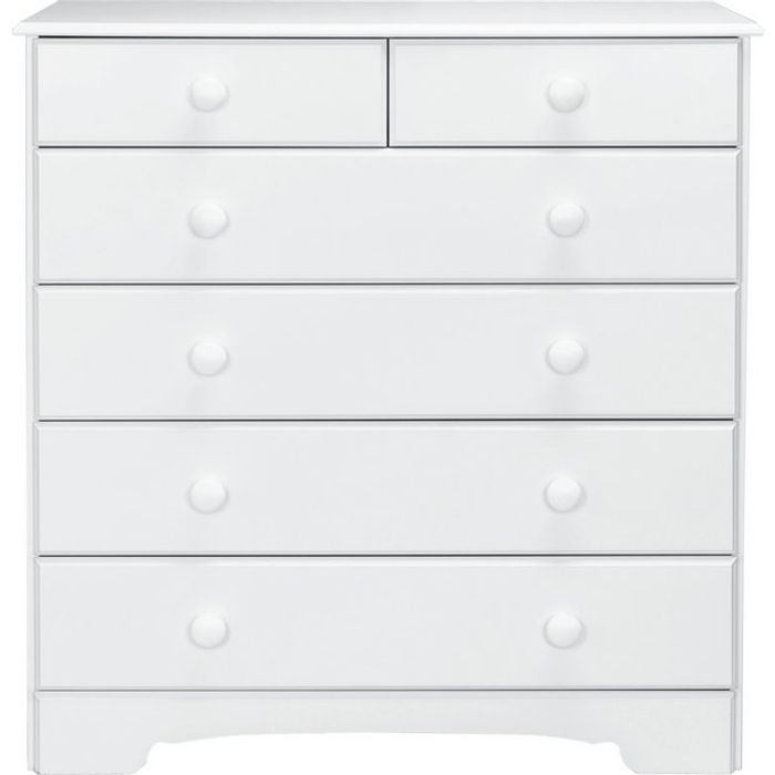 Argos Home Nordic 4+2 Drawer Chest - Soft White or Pine