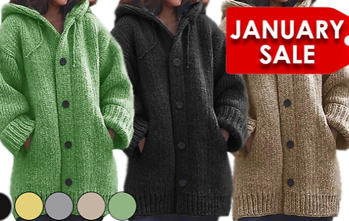 Chunky Knitwear Cardigan - 5 Colours & Sizes 6 to 20 + EXTRA 10% Off!