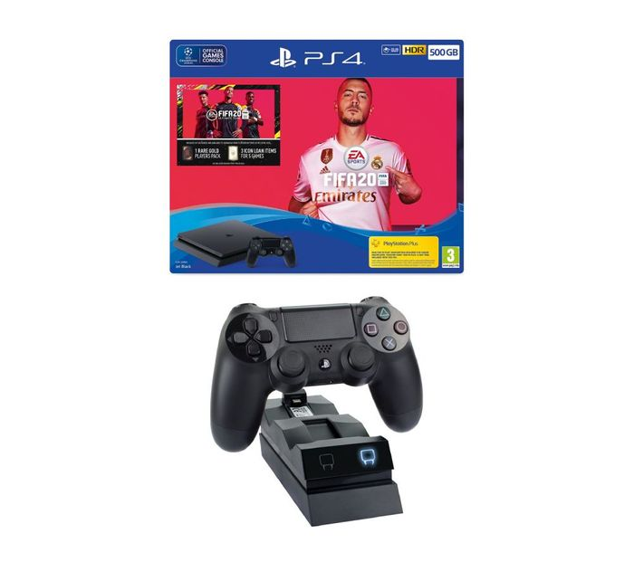 Cheap SONY Playstation 4 with FIFA 20 & Twin Docking Station Bundle Only £259