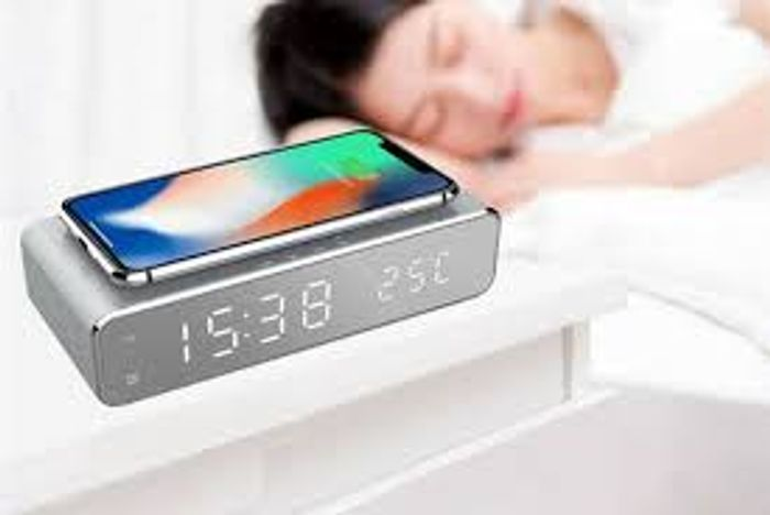 2-in-1 LED Alarm & Wireless Charging Station - 2 Colours