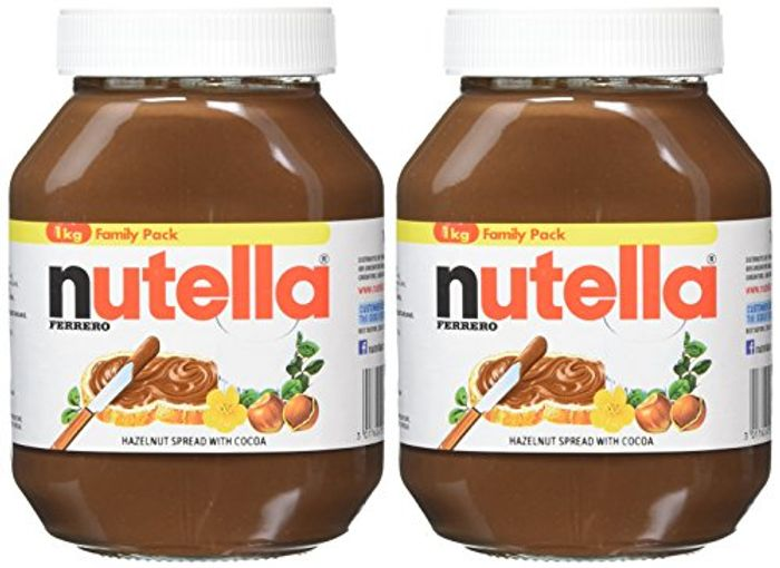 Oh no...who Can Resist This Nutella Hazelnut Chocolate Spread, 1 Kg, Pack of 2