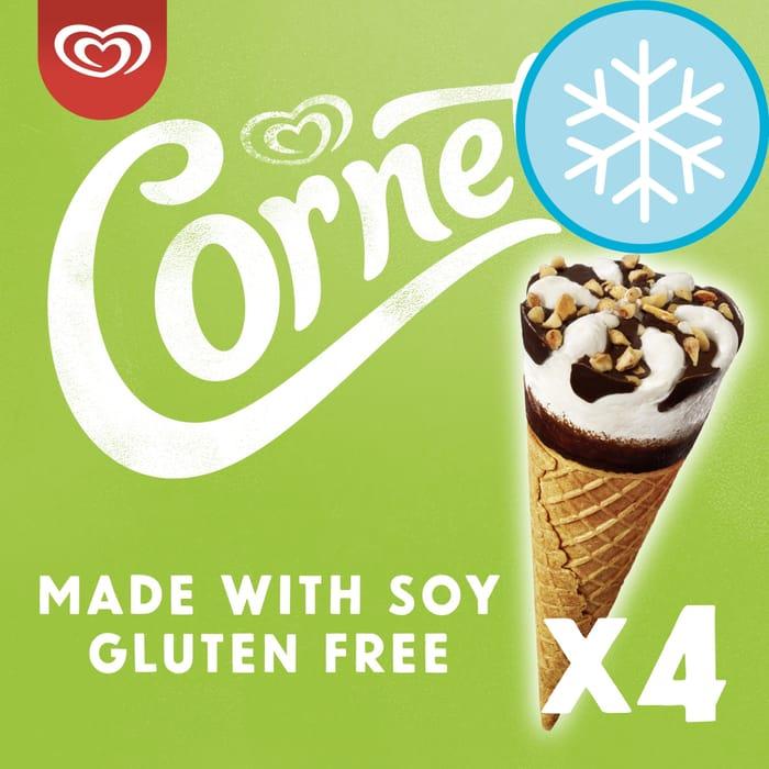 Cornetto Vanilla Gluten Free Soy Ice Cream Cone 4X90ml £1.50