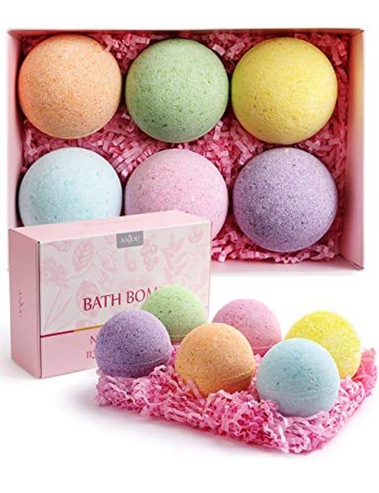 Bath Bombs Set, 6 X 110g Natural Fizzy Spa