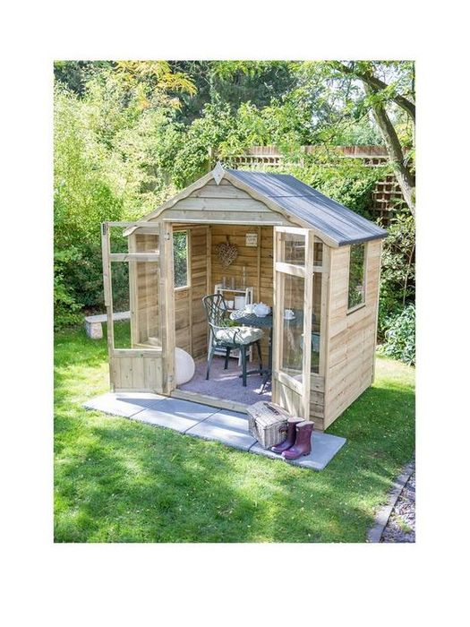 *SAVE £77* FOREST 7 X 5ft Oakley Overlap Pressure Treated Summerhouse