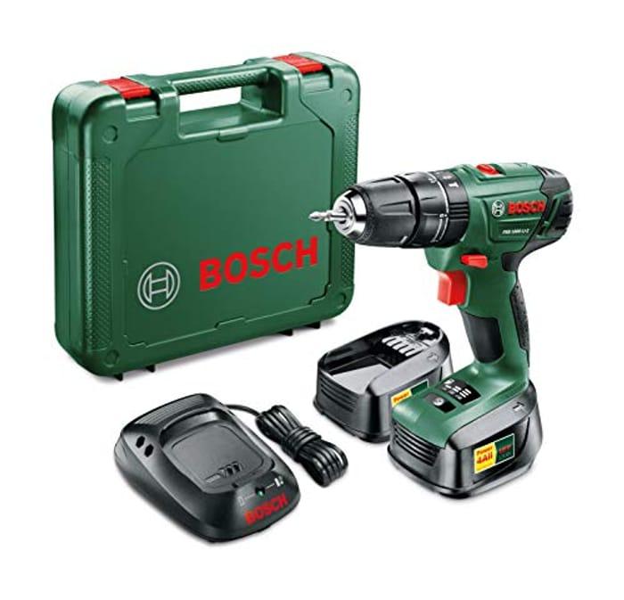SAVE £35 at AMAZON Bosch PSB 1800 LI-2 Cordless Combi Drill +2 18V LI Batteries