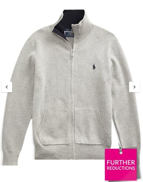 Cheap Ralph Lauren Boys Zip through Knitted Jumper at Very Only £24!