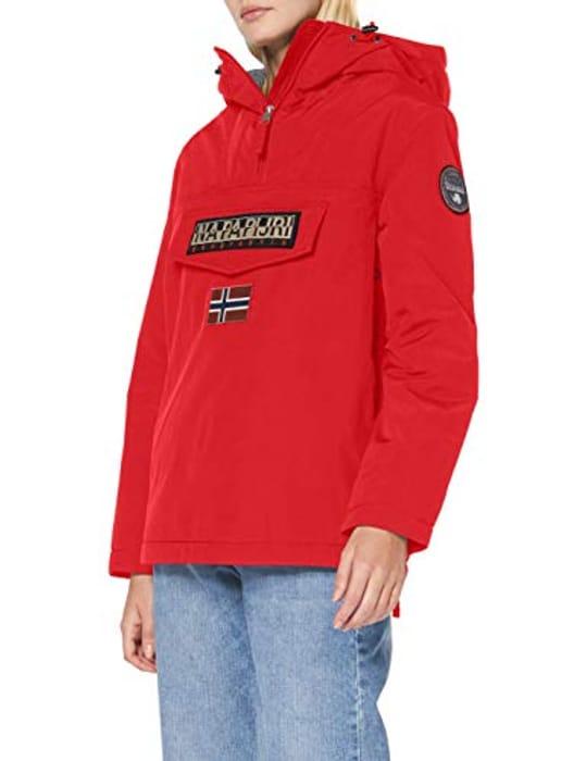 Napapijri Rainforest Jacket in Red Size Xl Only