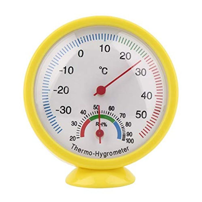 Cheap Mini Yellow Mechanical Thermometer, Only £0.52!
