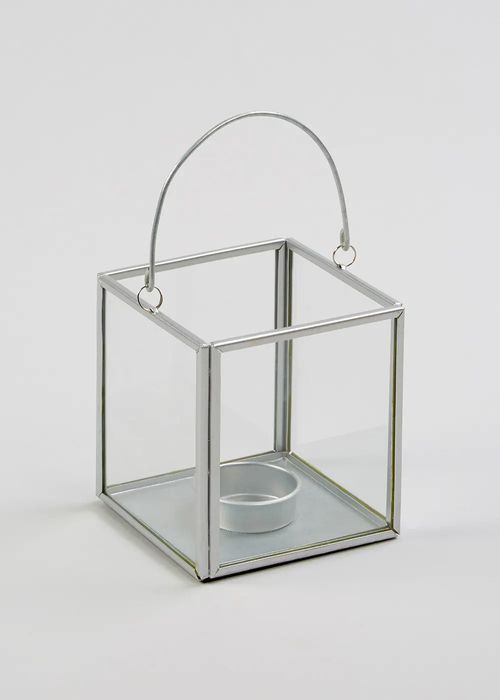 Small Glass Metal Lantern (10cm X 10cm X 10cm) save £3.50