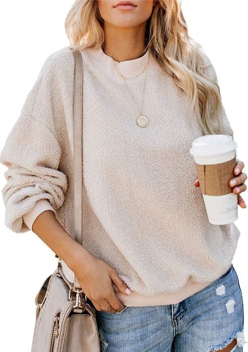Fluffy Fleece Jumper with prime