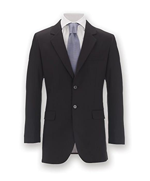 Men's Slim Fit Jacket, Plain, Regular, Size: 50, Black