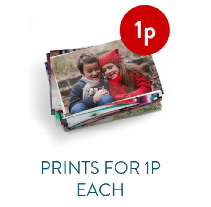 1p Prints! Get Upto 50 Prints for Just a Penny Each