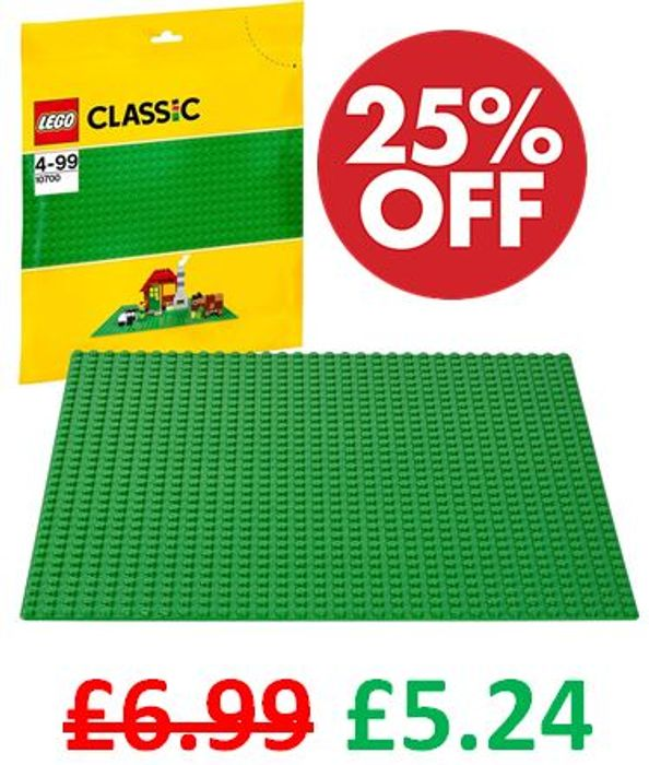 Rare Discount! 25% off LEGO Extra Large Building Plate 10 X 10 Inch