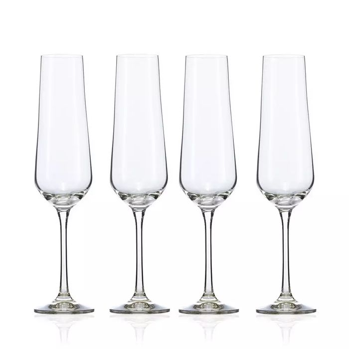 4 Crystal 'Calvello' Champagne Flutes - save £7.50