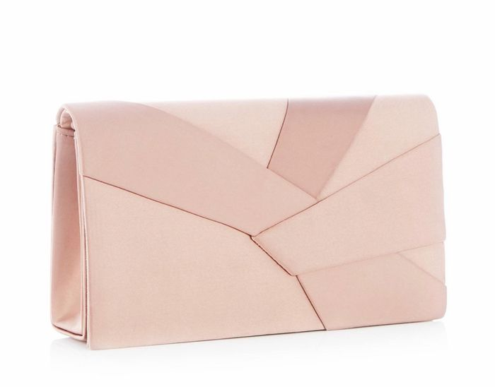 Cheap Debut - Taupe Origami Satin Clutch Bag with 50% Discount!