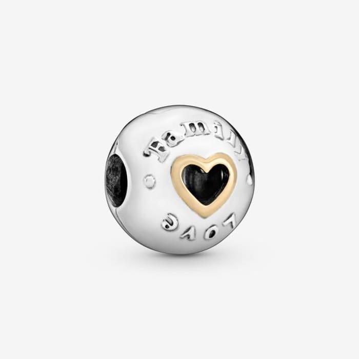 Family & Love Heart Clip Charm