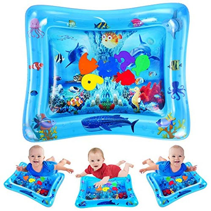 VATOS Kid Inflatable Tummy Time Water Play Mat Toys for Infants & Toddlers