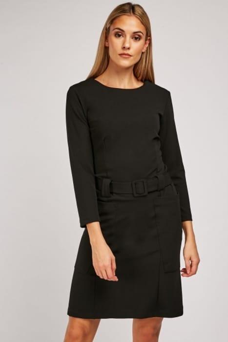 Oversized Twin Pocket Belted Dress £5.00