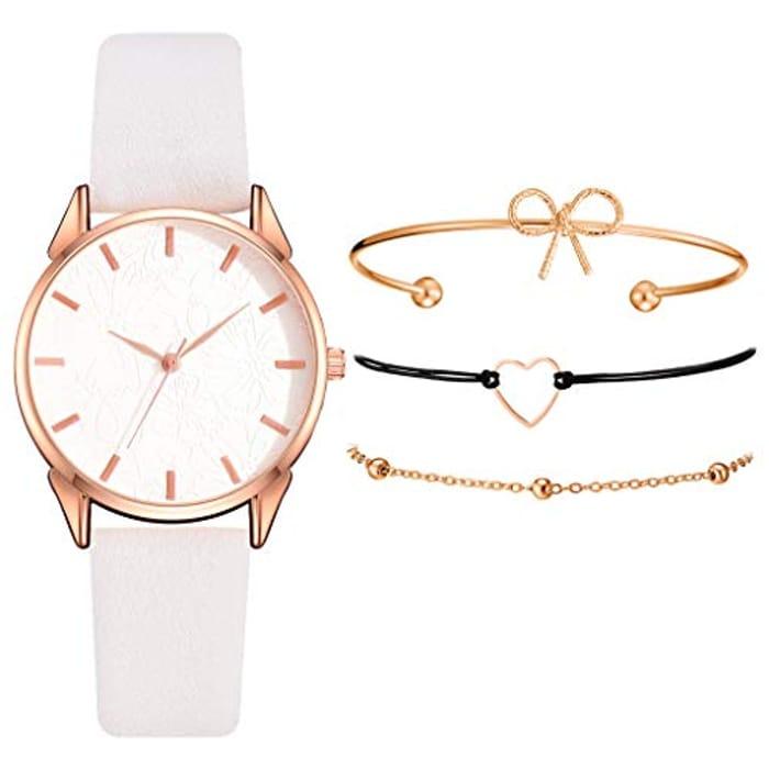 Watch and Bracelet Bangle Set