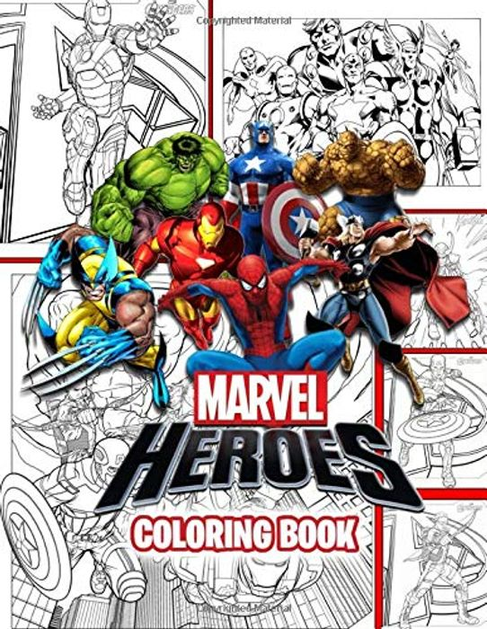 Cheap Marvel Heroes Coloring Book at Amazon, Only £4.64