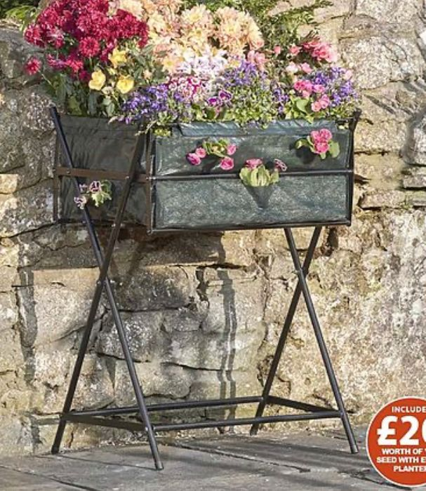 Green Garden Grow Raised Metal Planter including £20 of Veg Seed