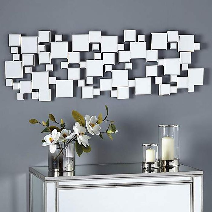 Hotel Silver Squares Mirror at Dunelm - Only £40!