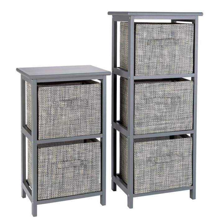 Bargain! Argos Home 2 and 3 Drawer Bathroom Units - Grey at Argos