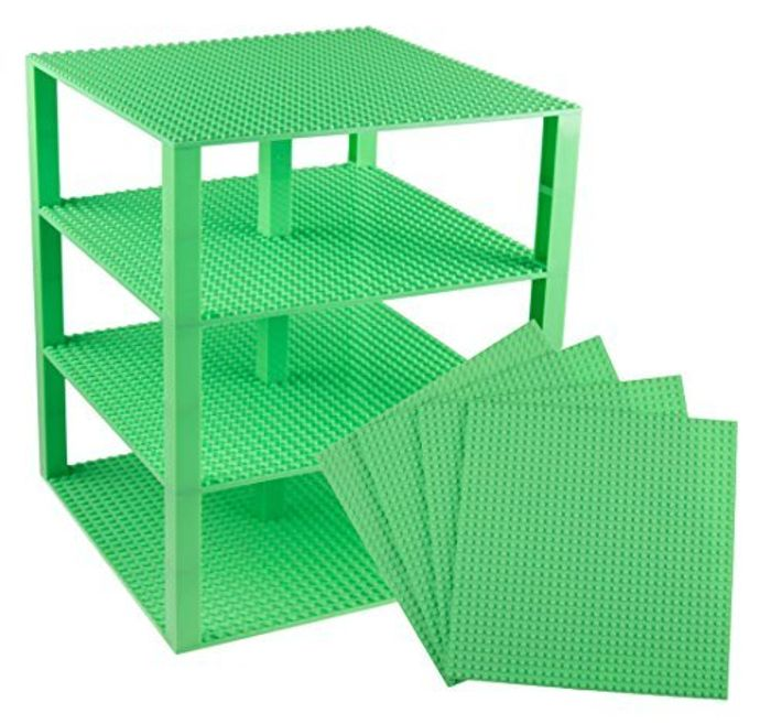 """Strictly Briks Stackable Base Plates - 4 Pack 10"""" X 10"""" - LEGO COMPATIBLE"""