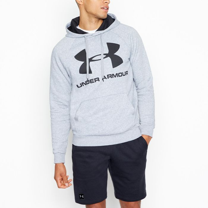 Under Armour - Light Grey 'Rival' Hoodie