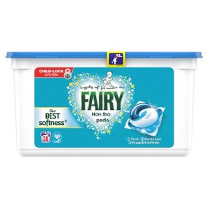 Fairy Non Bio Pods Washing Liquid Capsules 38 Washes