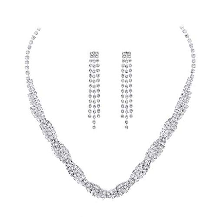 Cheap Women Crystal 3pcs Jewelry Set at Amazon Only £2.99!
